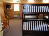 Log Cabin Rental Photos - Upstairs, View 2 - Maine Whitewater