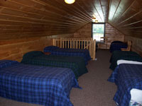 Log Cabin Rental Photos - Upstairs, View 1 - Maine Whitewater