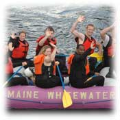 kennebec river white water rafting