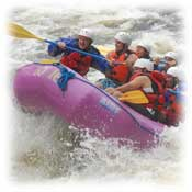 maine white water rafting, cabin lodging